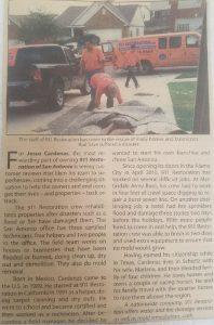 911 Restoration of San Antonio Disaster Restoration vehicles